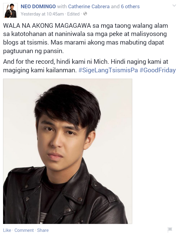 mich liggayu and neo domingo relationship help