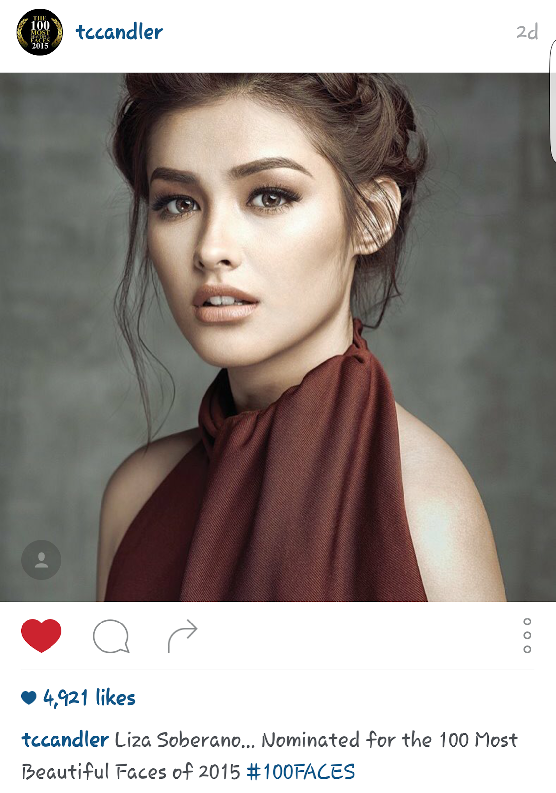 All about juan 187 liza soberano nominated for 100 most beautiful faces
