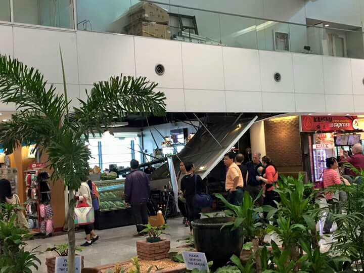 Ceiling collapse in NAIA Terminal 3.