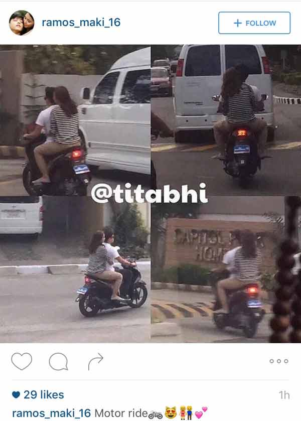 Daniel Padilla and Kathryn Bernardo Not Wearing Helmets While Riding Motorcycle