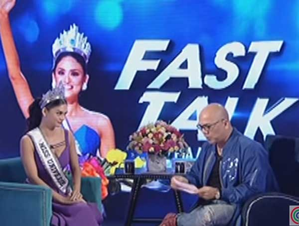 Fast talk with Miss Universe 2015, Pia Wurtzbach