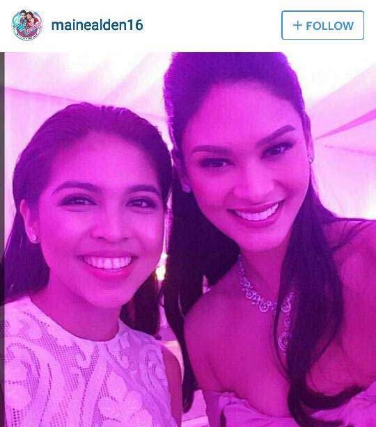 Maine-Mendoza-and-Miss-Universe-Pia-Wurtzbach-at-Pauleen-Luna---Vic-Sotto-Wedding
