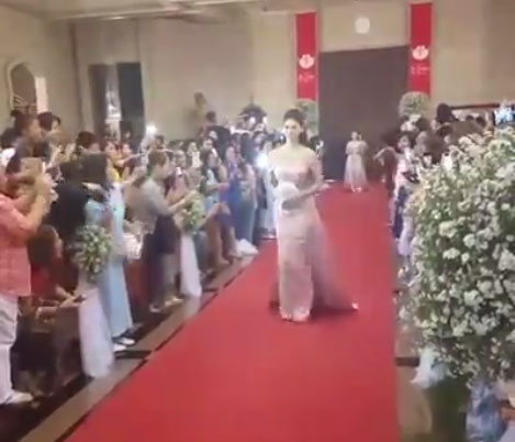 Miss Universe Pia Wurtzbach Walks Down the Aisle at Pauleen Luna - Vic Sotto Wedding
