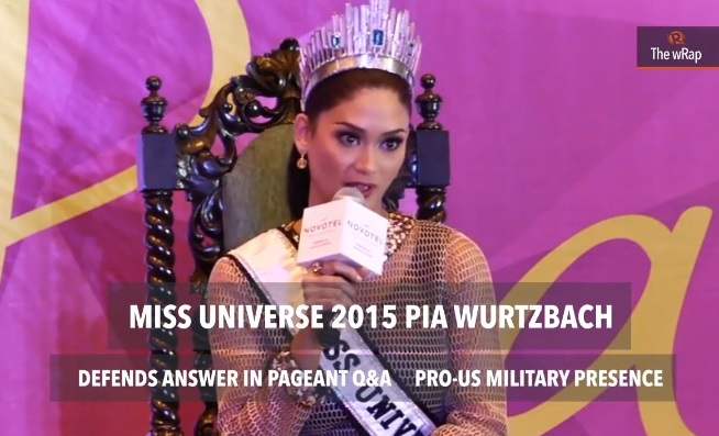 Miss Universe Pia Wurtzbach Defends Answer In Pageant's Q&A