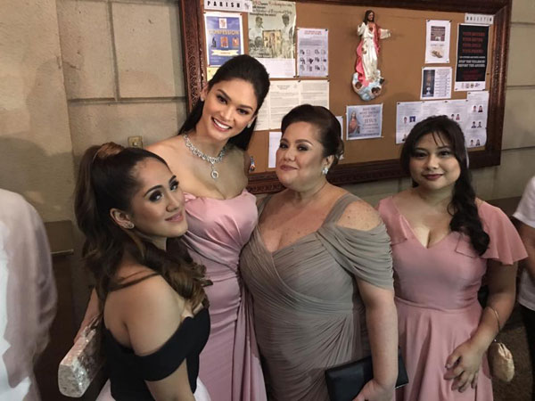 Miss Universe Pia Wurtzbach at Pauleen Luna's Wedding