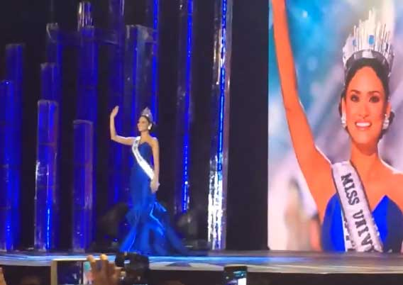 Victory Walk of Miss Universe Pia Wurtzbach at Araneta Coliseum