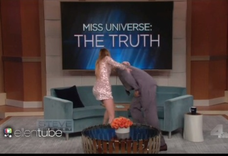 Unseen part of Miss Colombia's guesting in Steve Harvey Show