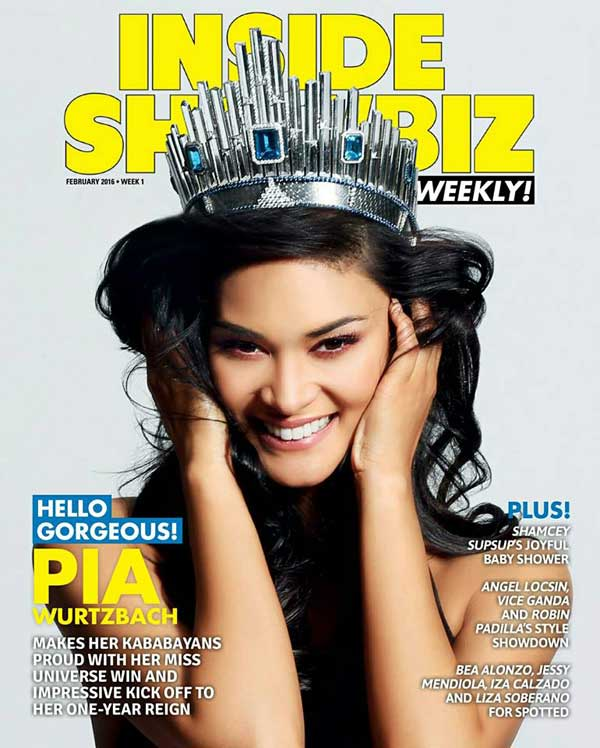 Miss Universe Pia Wurtzbach for Inside Showbiz Magazine