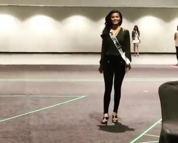 Maxine Medina during Miss Universe pageant rehearsals