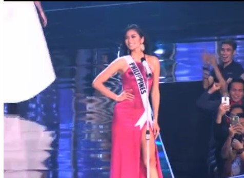 Miss Universe Philippines Maxine Medina's introduction at the preliminary competition of the MissUniverse pageant