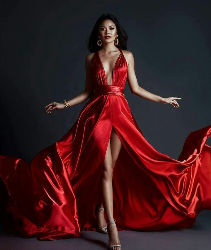 maxine medina red gown