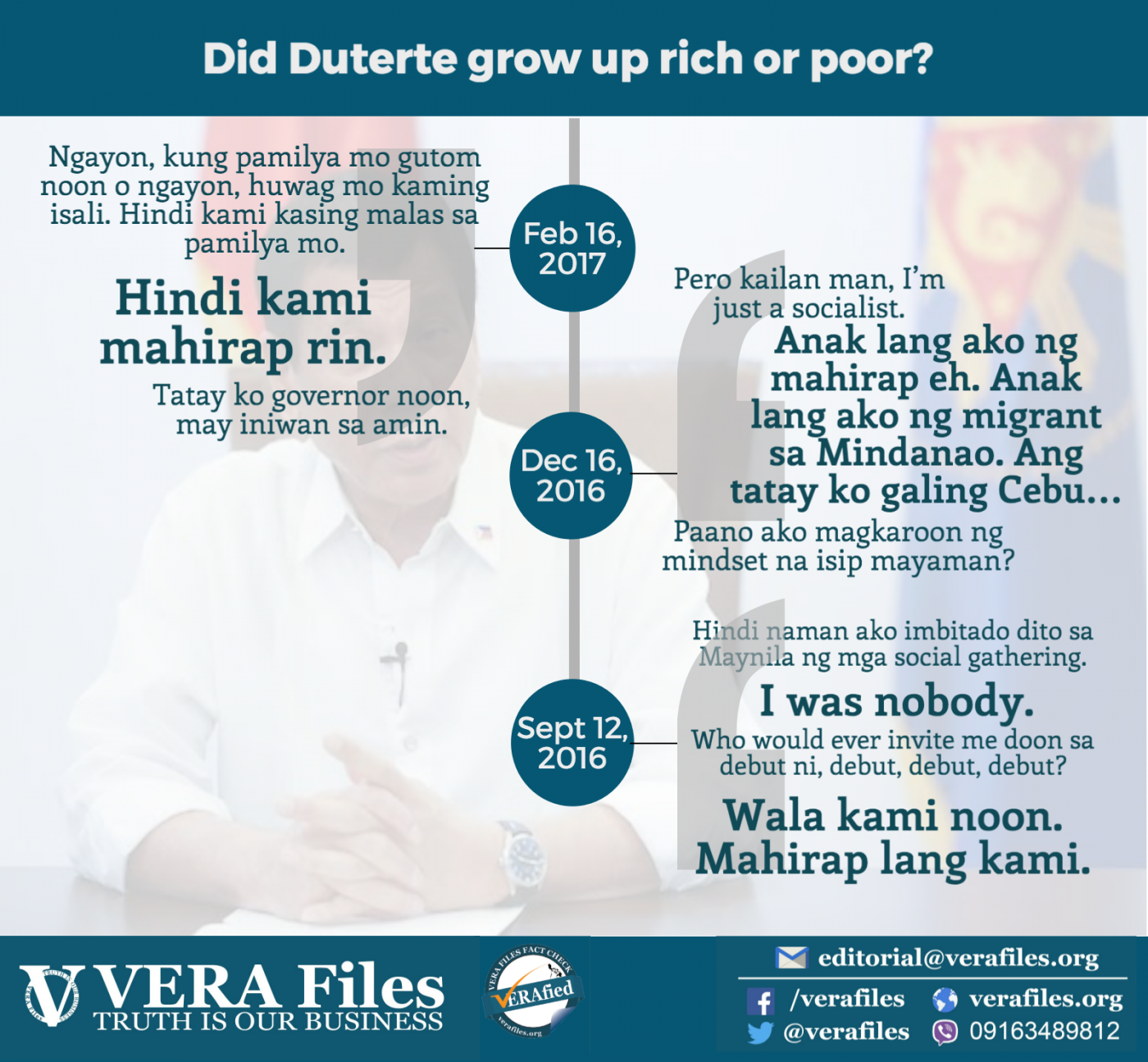 Duterte flip-flops on family's wealth
