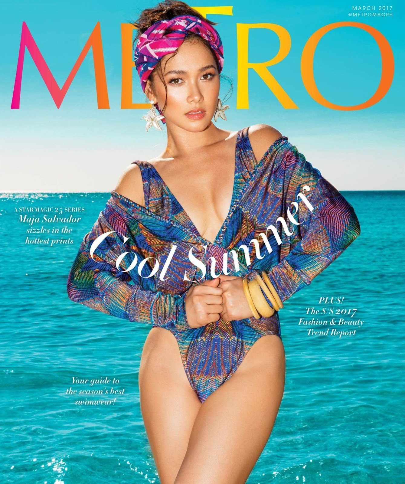 Maja Salvador on the Cover of Metro