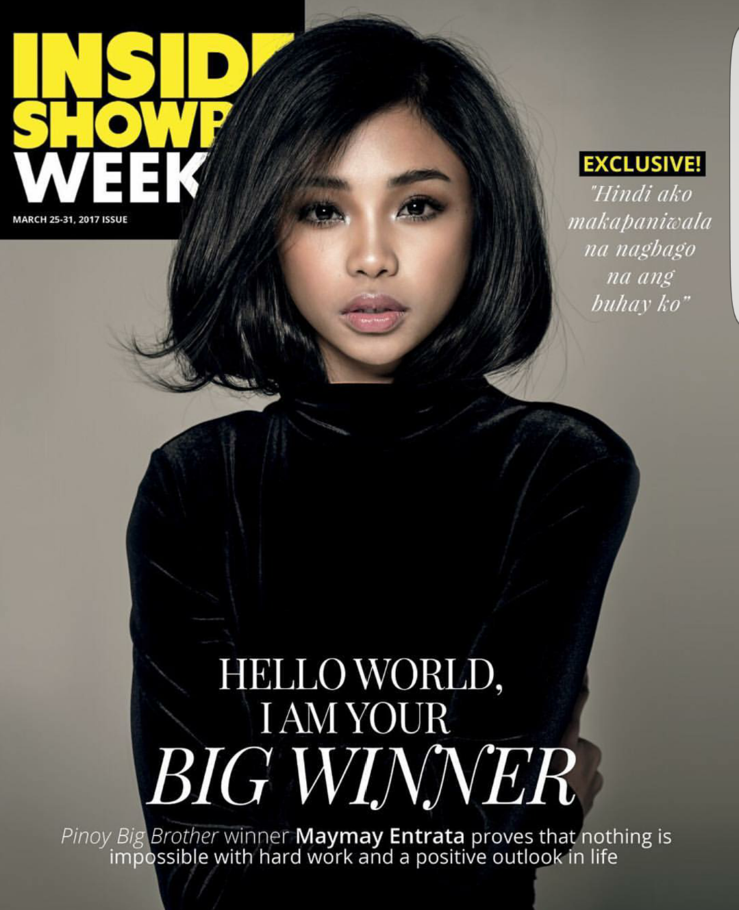 Maymay Entrata on the Cover of Inside Showbiz Weekly