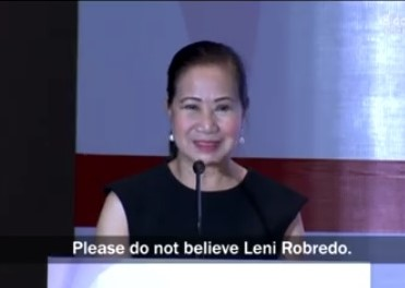 PAGCOR Chair slams Vice President Leni Robredo in a speech at the ASEAN Gaming Summit 2017