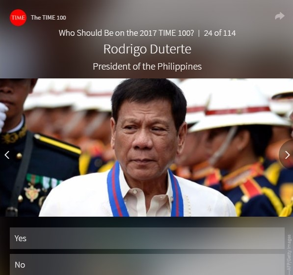 rodrigo duterte time 100 most influential people of 2017