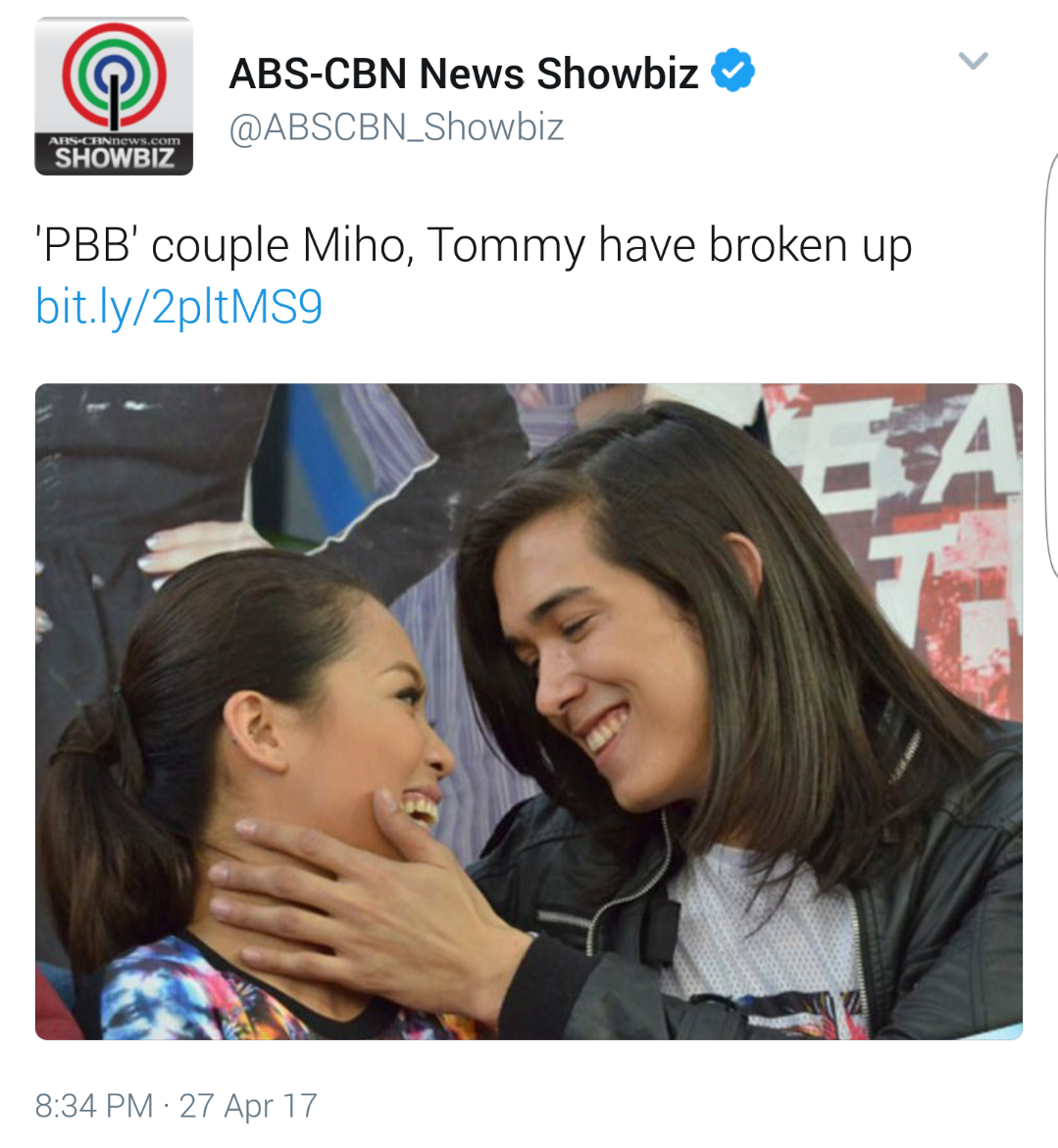 Tommy Esguerra and Miho Nishida are Over
