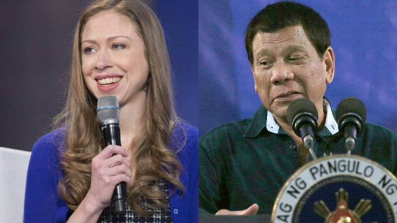Clinton daughter calls Duterte 'murderous thug