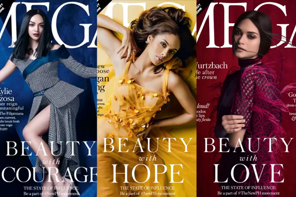 Kylie Verzosa, Megan Young, and Pia Wurtzbach on Different Covers of Mega3