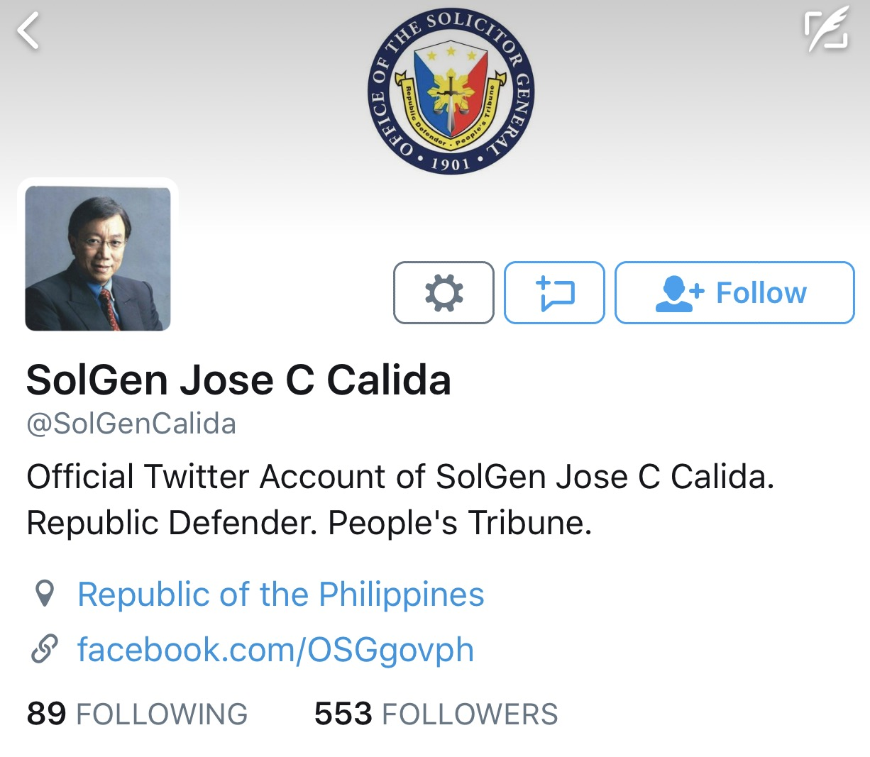 SolGen Jose Calida Taunts Senators Pangilinan and Hontiveros