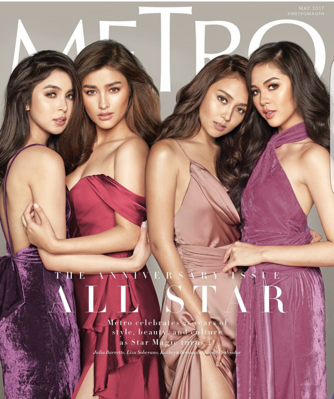 Star Magic's Female Stars on the Cover of Metro