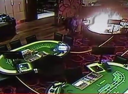 Resorts World Manila CCTV footage during casino attack