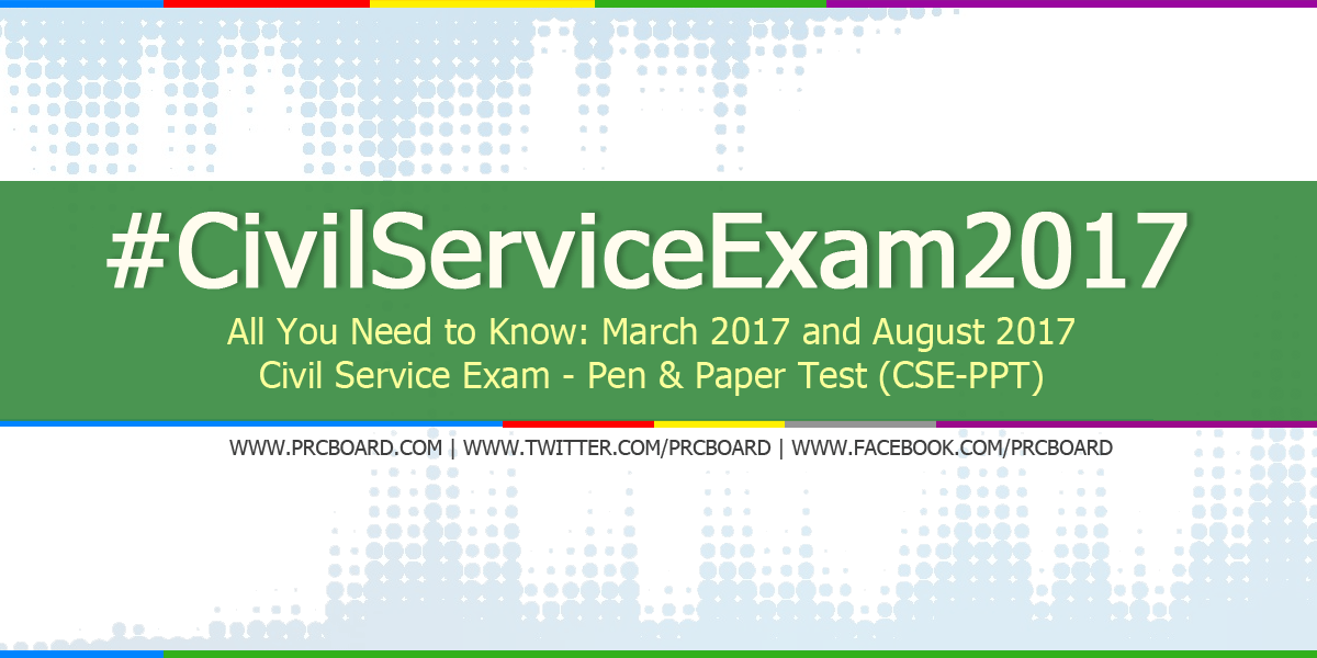 August 2017 Civil Service Exam (CSE) Application Schedule & Requirements