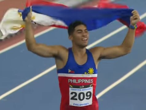 Anthony Beram wins gold in 200m athletics sea games 2017