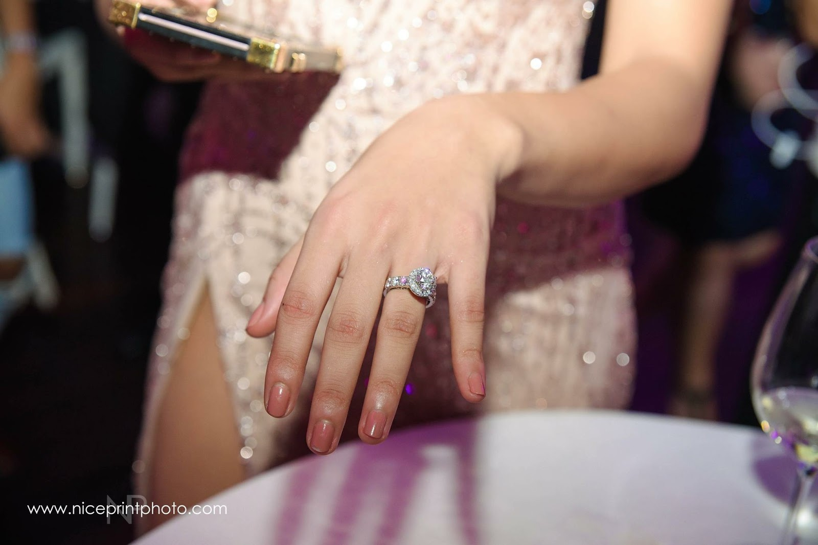 Sarah Lahbati's Engagement Ring At Closer View​