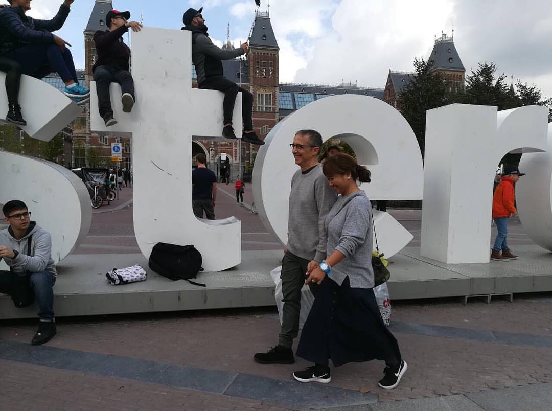 Eugene Domingo and Boyfriend Strolling in Amsterdam