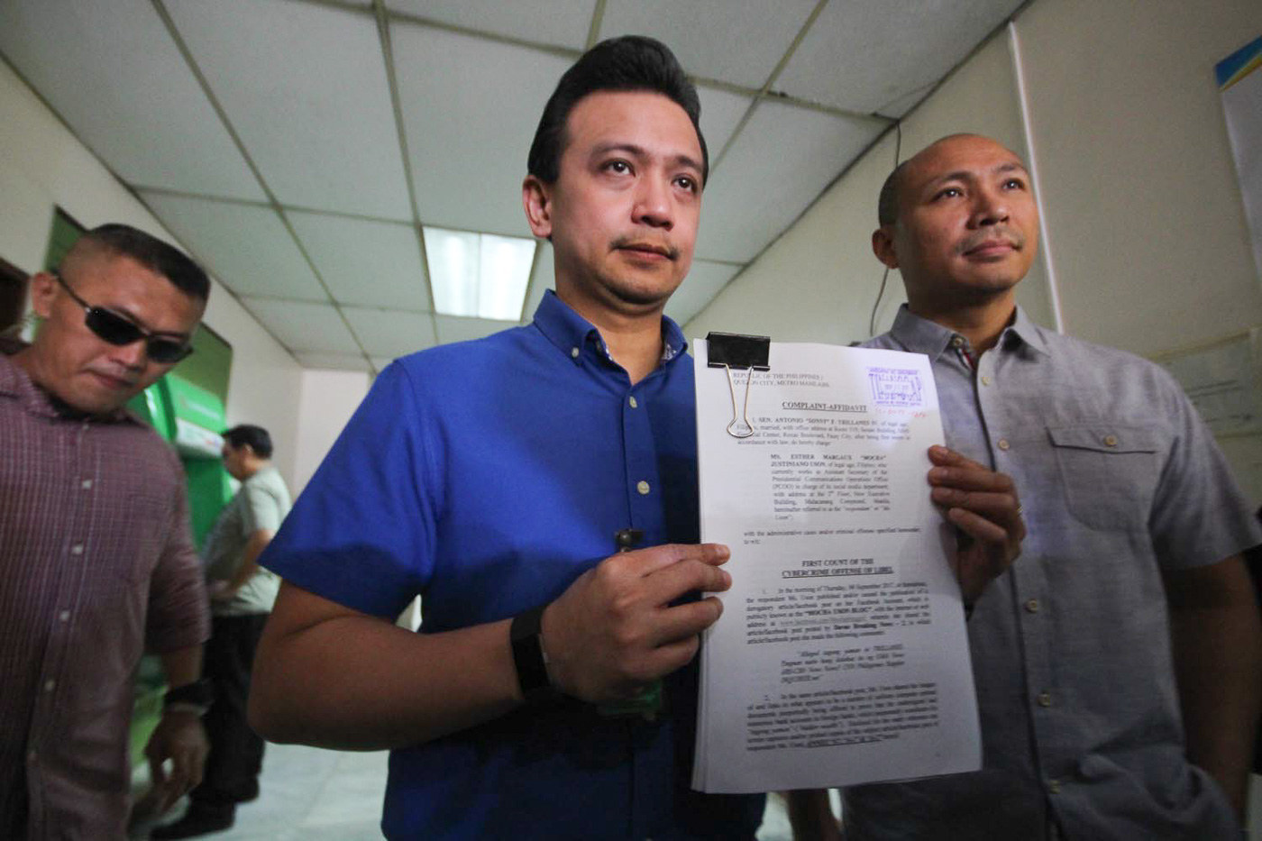 Trillanes files criminal and administrative complaints Uson